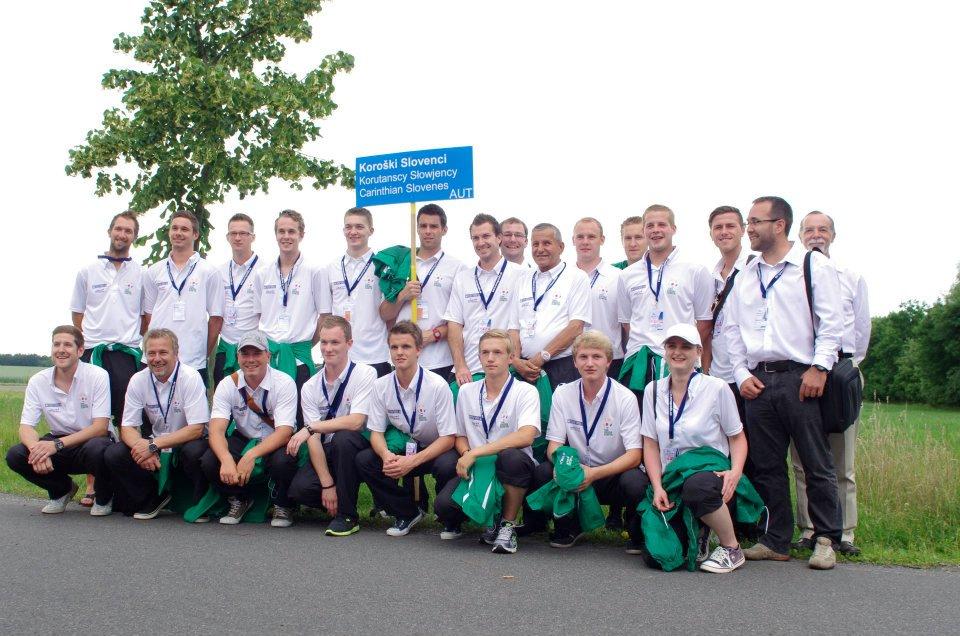 Das Team Koroška/Kärnten bei der EUROPEADA 2012