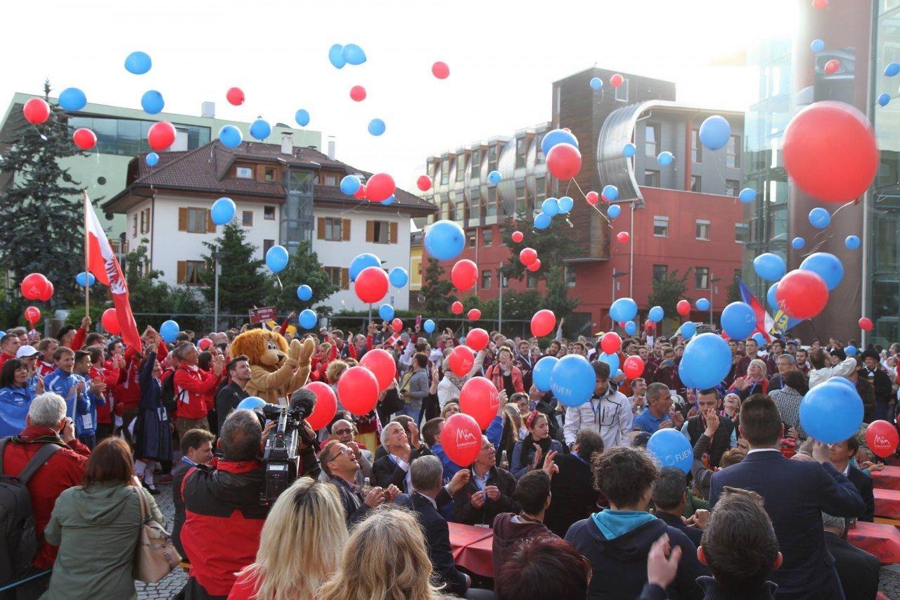 Eröffnungsfeier Europeada 2016 in Bruneck